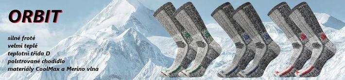 ORBIT - extra teplé ponožky s vlnou