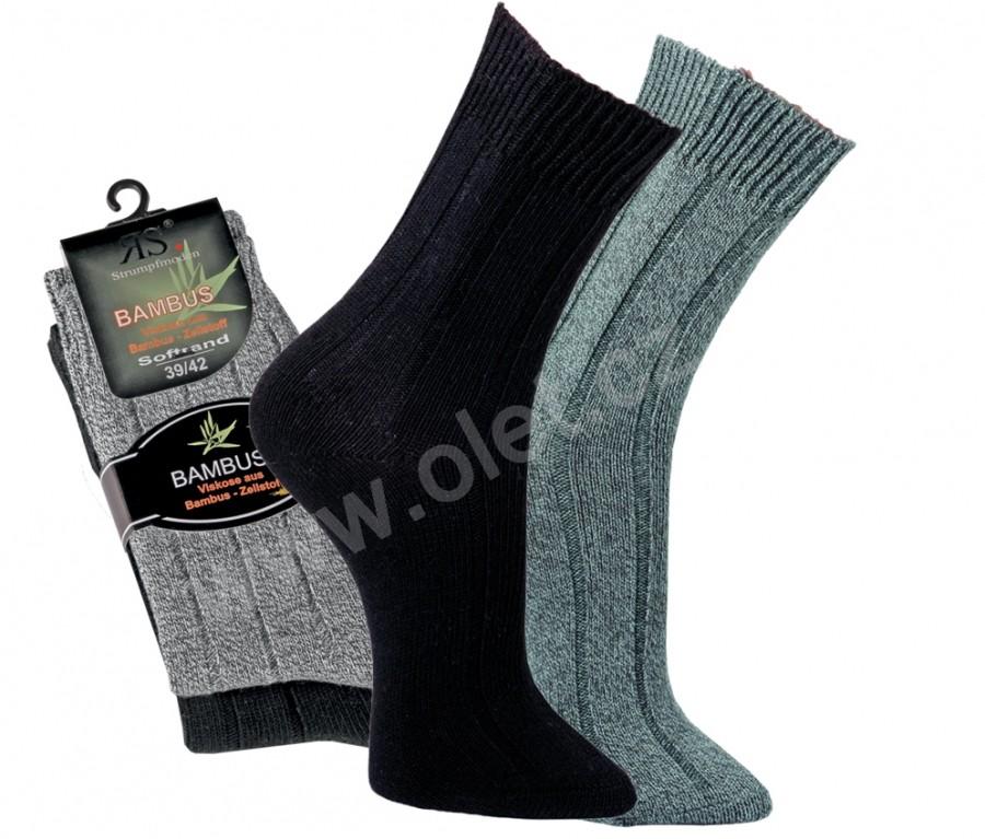 SOFT dámské i pánské bambusové ponožky RS