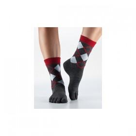 Christmas ARGYLE casual crew prstové ponožky ToeSox - Ponožkožrout ... bcc16a7c94