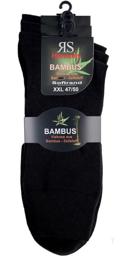 Pánské nadměrné bambusové ponožky bez gumiček RS
