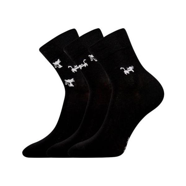 782c9387857 XANTIPA dámské barevné ponožky Boma - KOČKY BLACK mix 28 ...
