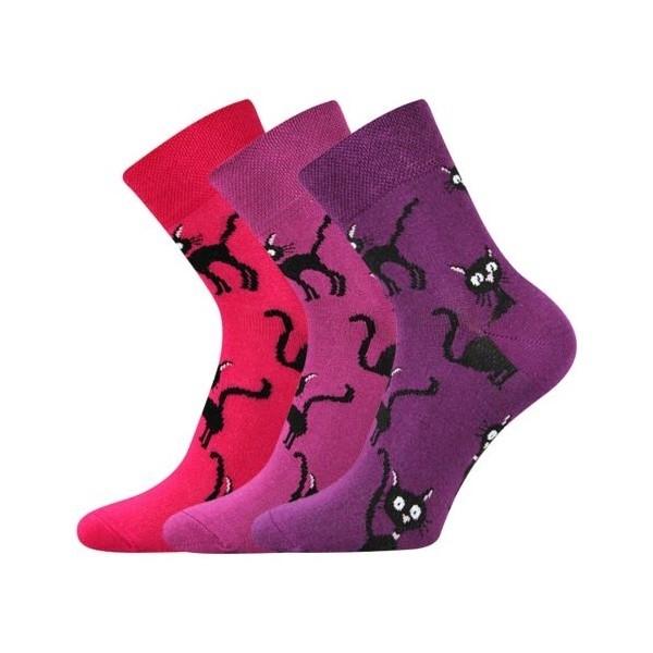be3e9a434ce XANTIPA dámské barevné ponožky - PURPLE mix 32 - Ponožkožrout.cz ...