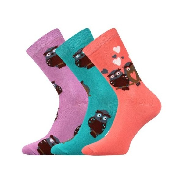 b358f5c4dfa XANTIPA dámské barevné ponožky - SOVA mix 33 - Ponožkožrout.cz ...
