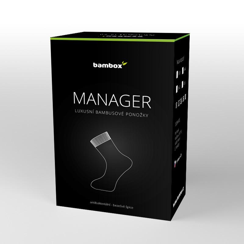 MANAGER luxusní bambusové ponožky Bambox - EXTRA BOX