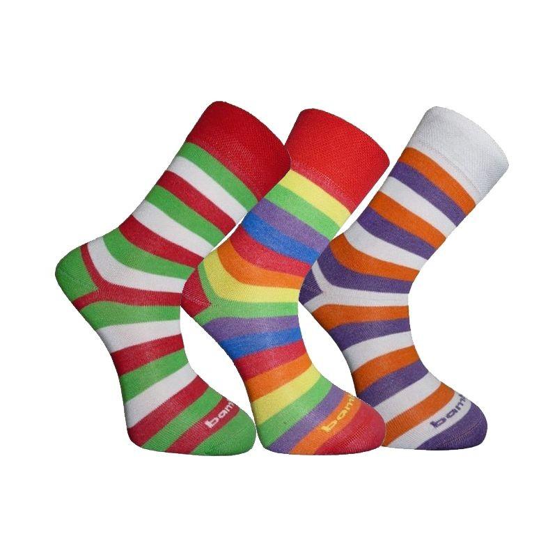 BX-STRIPY FUN bambusové ponožky BAMBOX