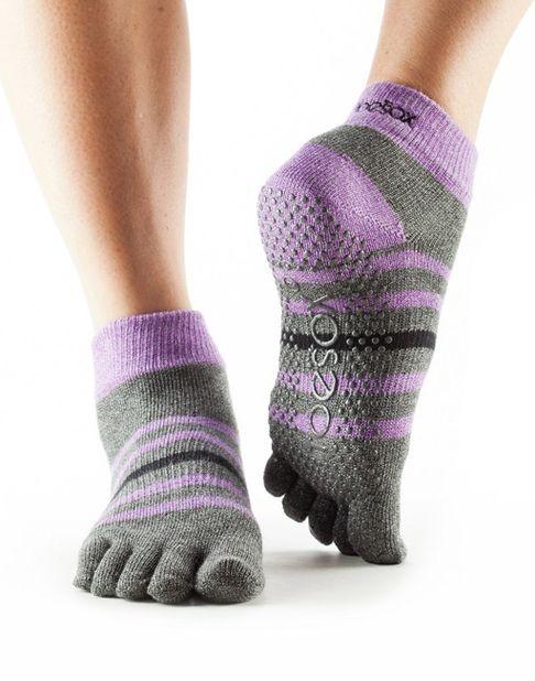 ANKLE nízké ABS prstové ponožky ToeSox - NEW