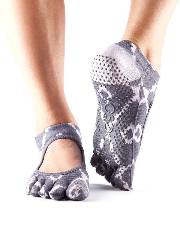 BELLA nízké prstové ponožky ToeSox - NEW fialová - mozaika S