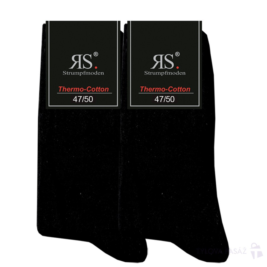 Pánské bavlněné nadměrné froté ponožky RS