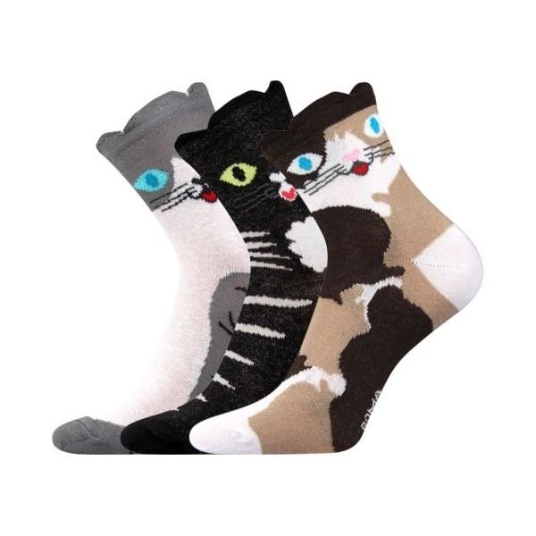 XANTIPA dámské barevné ponožky - KOČKA mix 37 - Ponožkožrout.cz ... 079651ba23
