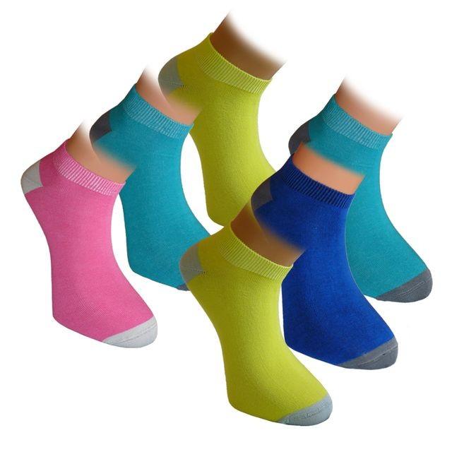 SNEAKER DOUBLE nízké barevné bambusové ponožky BAMBOX