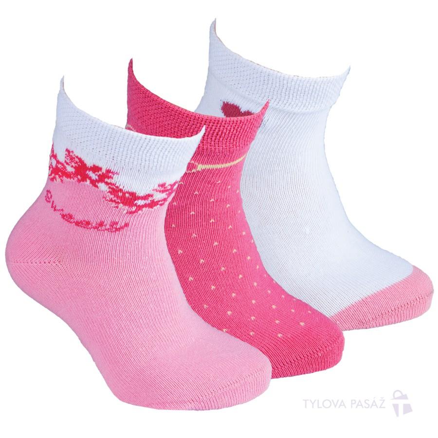 Dívčí bavlněné vzorované ponožky RS