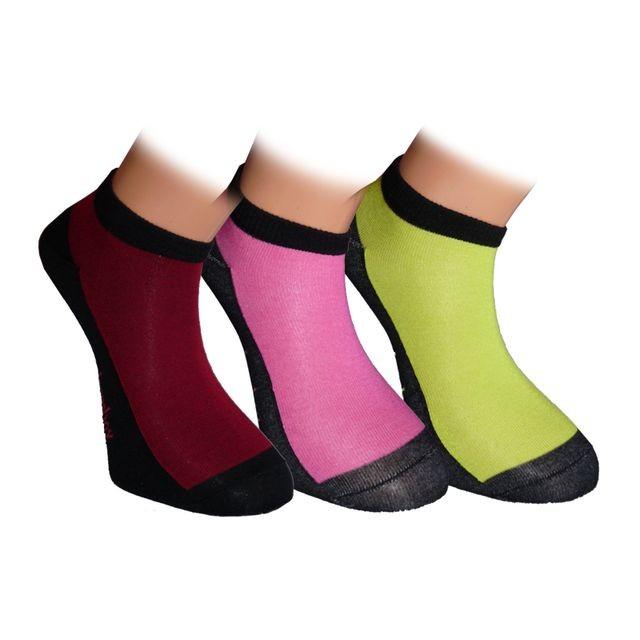 SNEAKER DARK nízké barevné bambusové ponožky BAMBOX