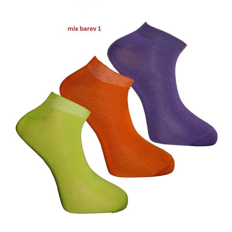 SNEAKER ONE nízké barevné bambusové ponožky BAMBOX