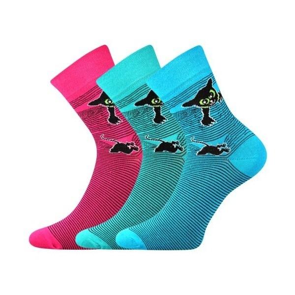 8cc5d3a7633 XANTIPA dámské barevné ponožky - TYRKYS mix 38 - Ponožkožrout.cz ...