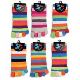 Barevné prstové ponožky - PRUHY - Ponožkožrout.cz - ponožky ec13da74ee