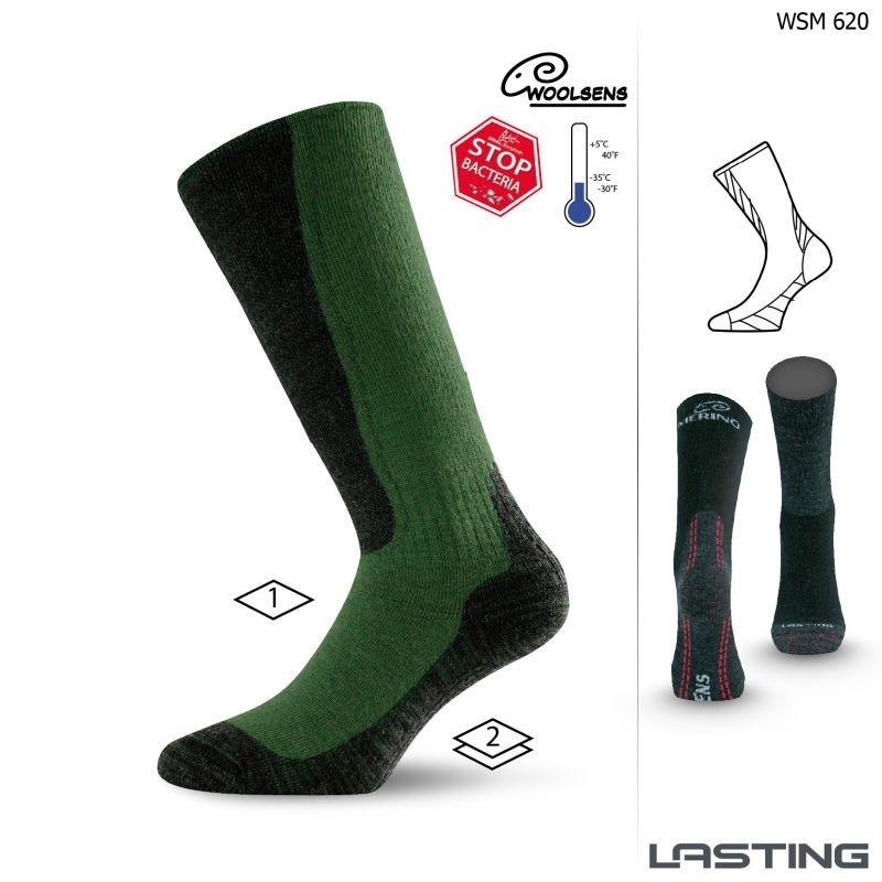 WSM merino vlněné ponožky Lasting