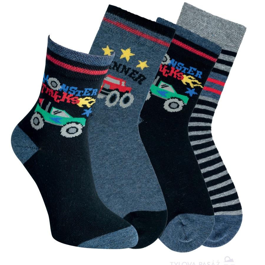 Chlapecké bavlněné vzorované ponožky RS