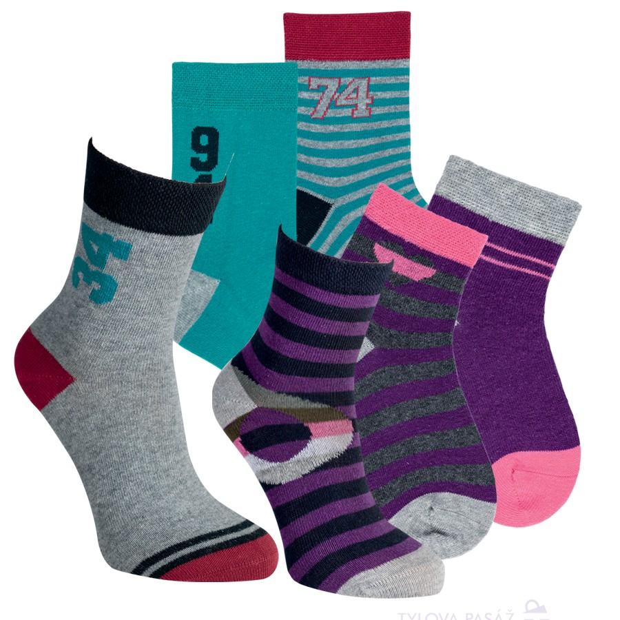 Dětské bavlněné vzorované ponožky RS
