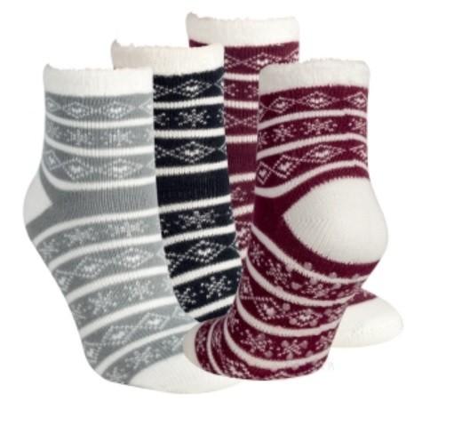 Dámské protiskluzové ponožky s norským vzorem RS