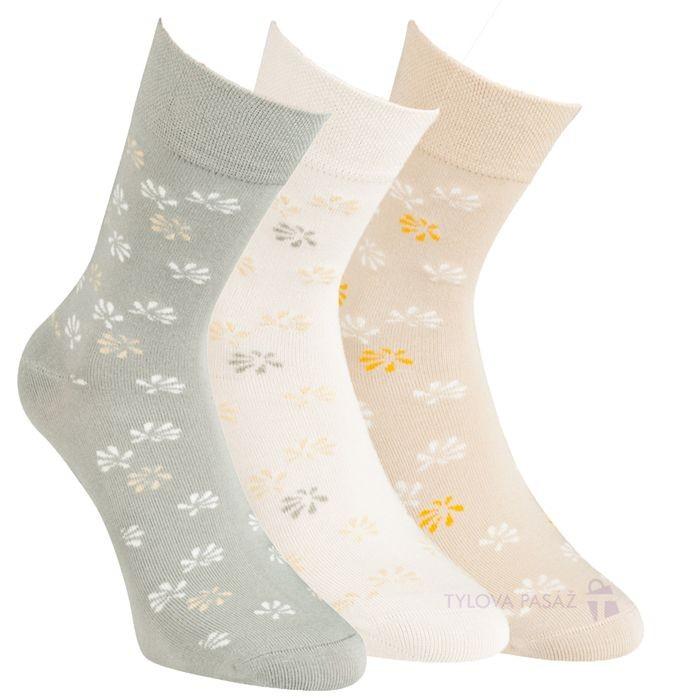Dámské zdravotní barevné bambusové ponožky RS