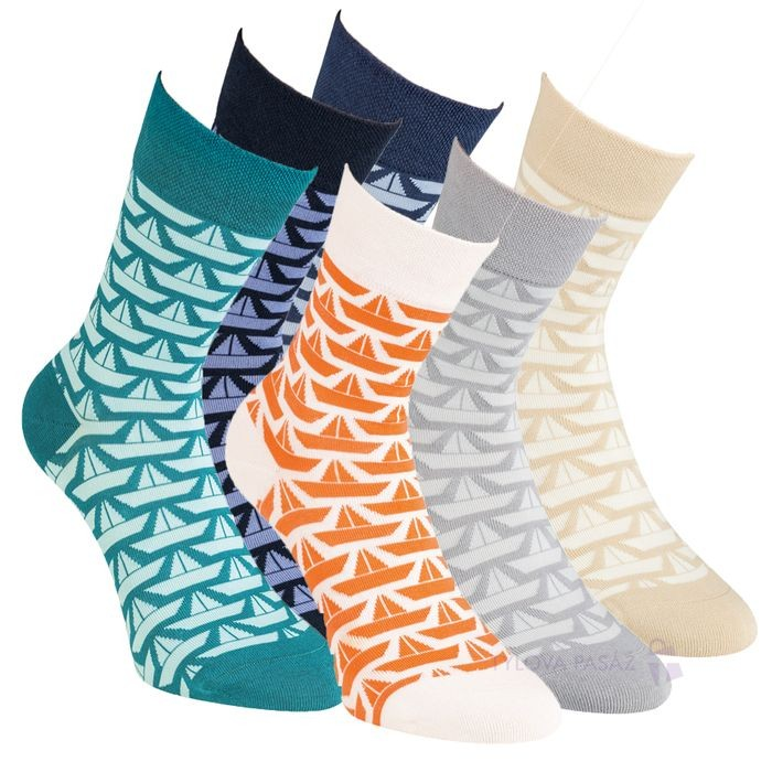 Dámské barevné ponožky bez gumiček RS