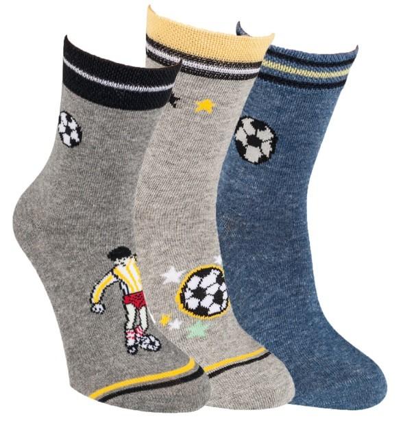Chlapecké bavlněné barevné vzorované ponožky RS