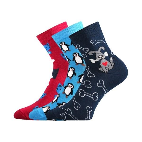 bf84cf0024f XANTIPA dámské barevné ponožky - TUČŇÁK mix 42 - Ponožkožrout.cz ...