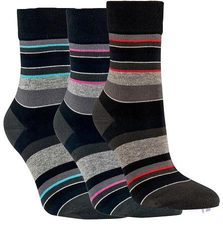 Dámské pruhované bavlněné ponožky RS