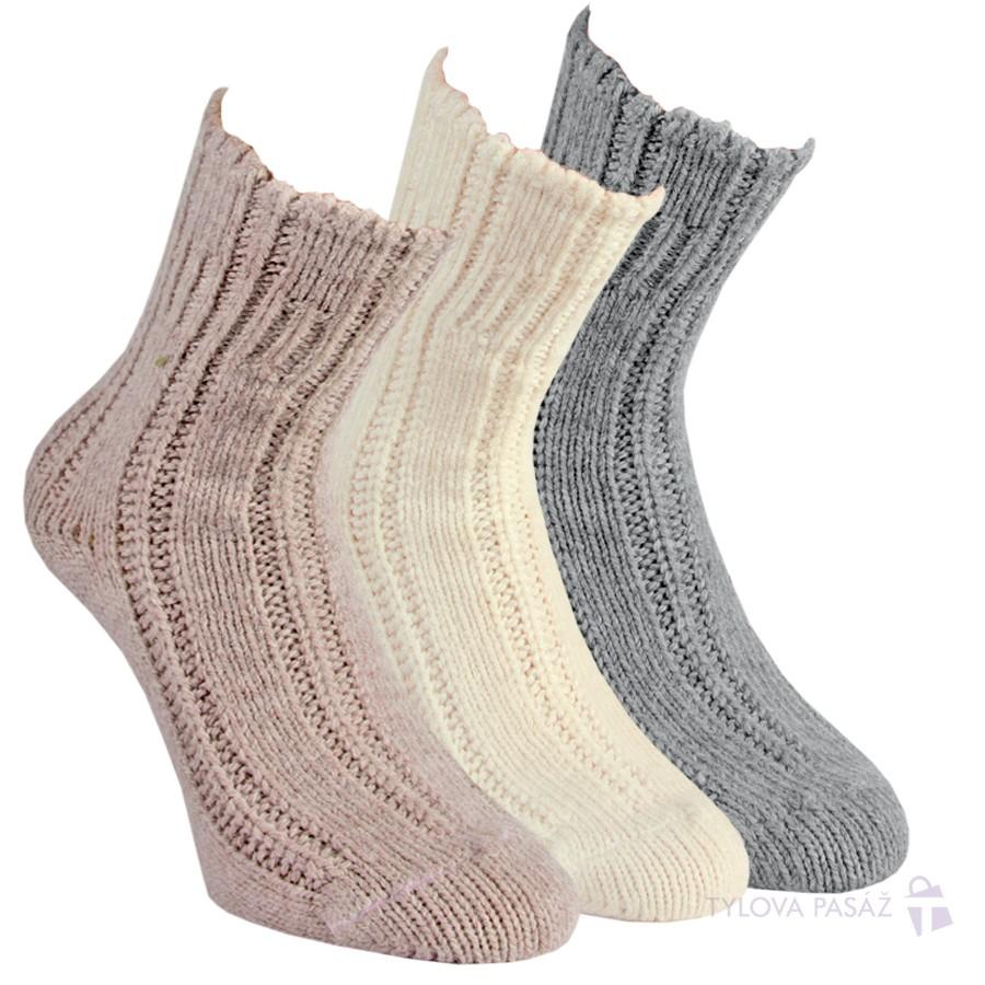 Teplé jemné a měkké akrylové ponožky RS