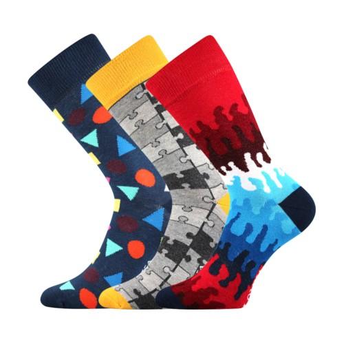 WOODOO barevné ponožky Lonka - TVARY
