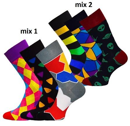 Módní pánské barevné vzorované ponožky RS