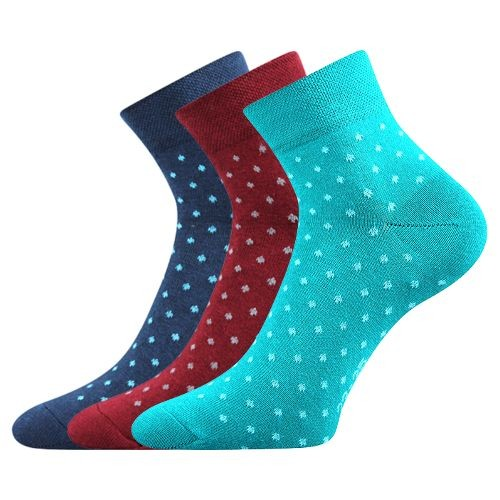 JANA dámské barevné ponožky - MIX 43
