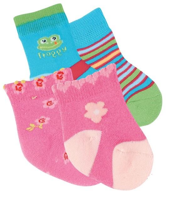 Kojenecké bavlněné vzorované baby ponožtičky RS