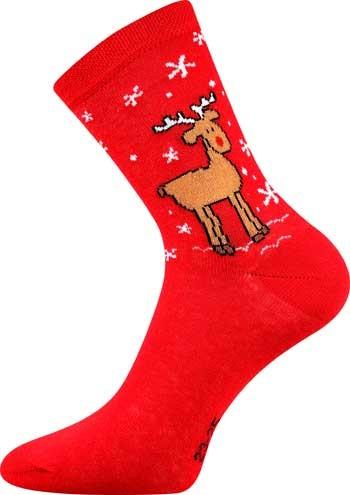 S-PATTE barevné vánoční ponožky - ČERVENÝ SOB