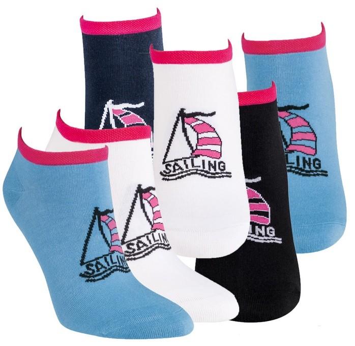 Dámské barevné módní vzorované sneaker ponožky RS