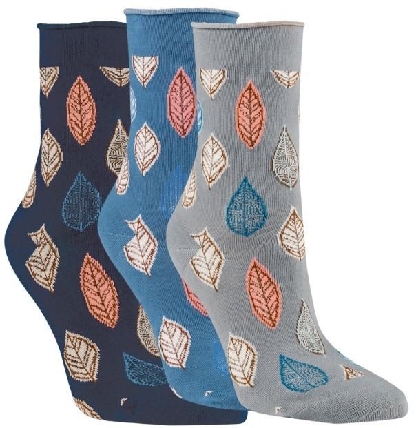 Dámské zdravotní vzorované ponožky RS