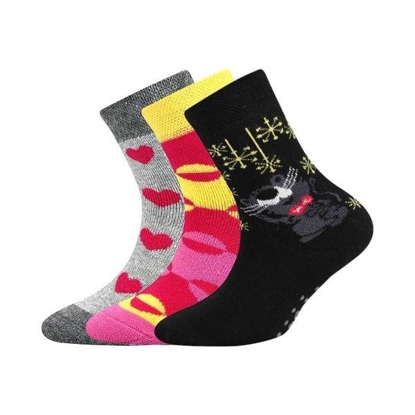 7726e78011d SIBIŘ dětské froté ABS ponožky s protiskluzem - MIX 05 ...