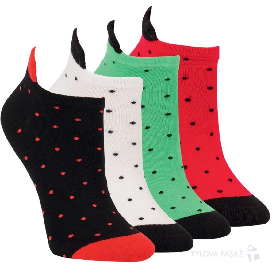 Dámské letní módní vzorované bavlněné ponožky RS