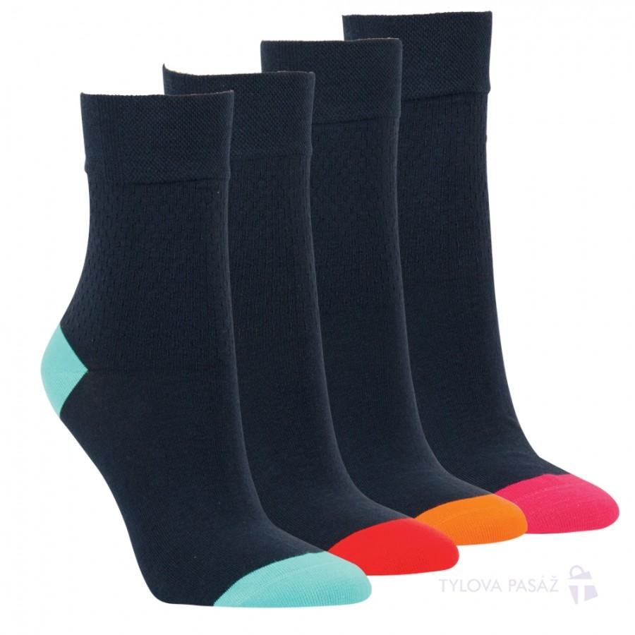 Dámské barevné bavlněné módní zdravotní ponožky RS