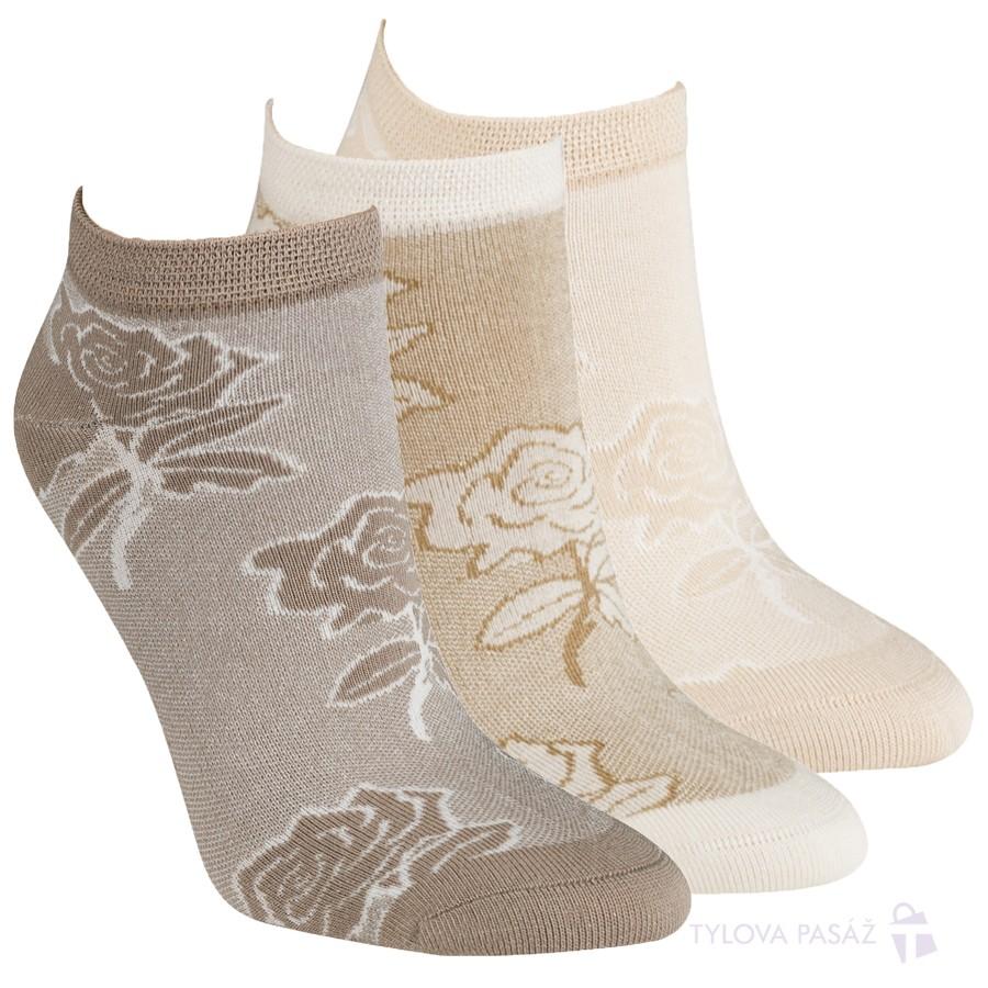 Dámské módní bambusové sneaker ponožky vzor RS
