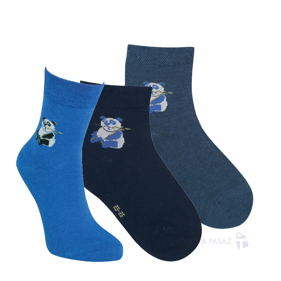 Dětské bambusové vzorované ponožky RS