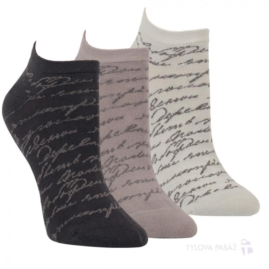 Dámské letní vzorované bavlněné ponožky RS