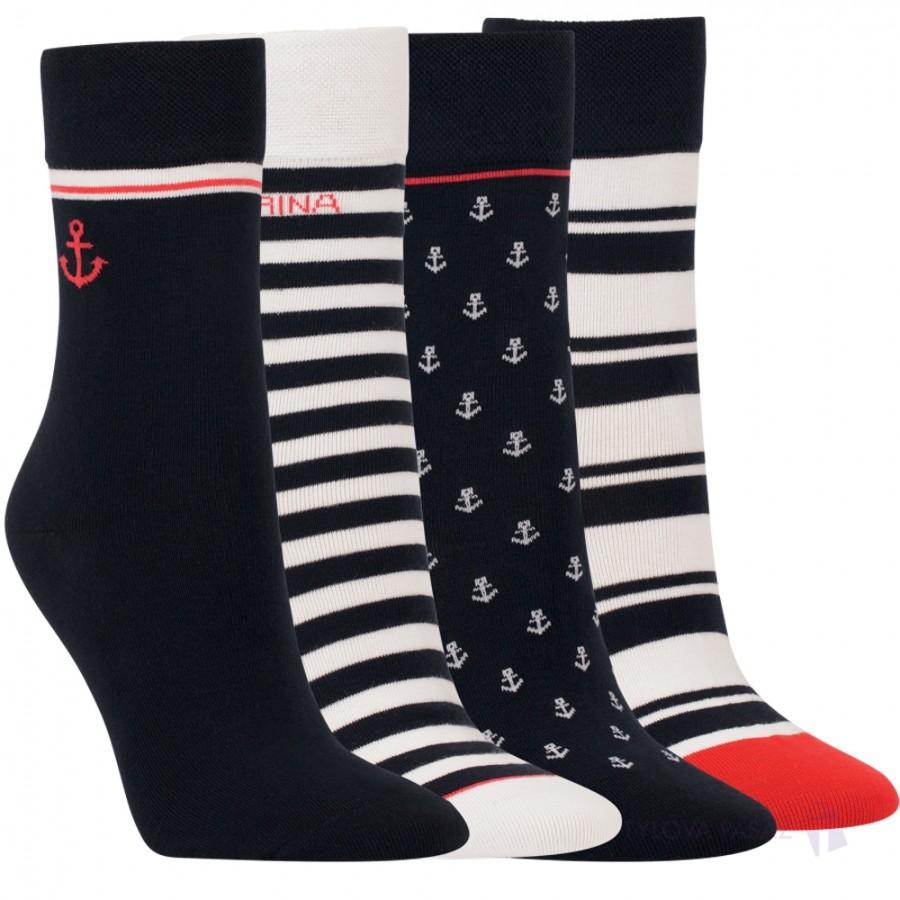 Dámské bavlněné módní ponožky bez gumiček RS