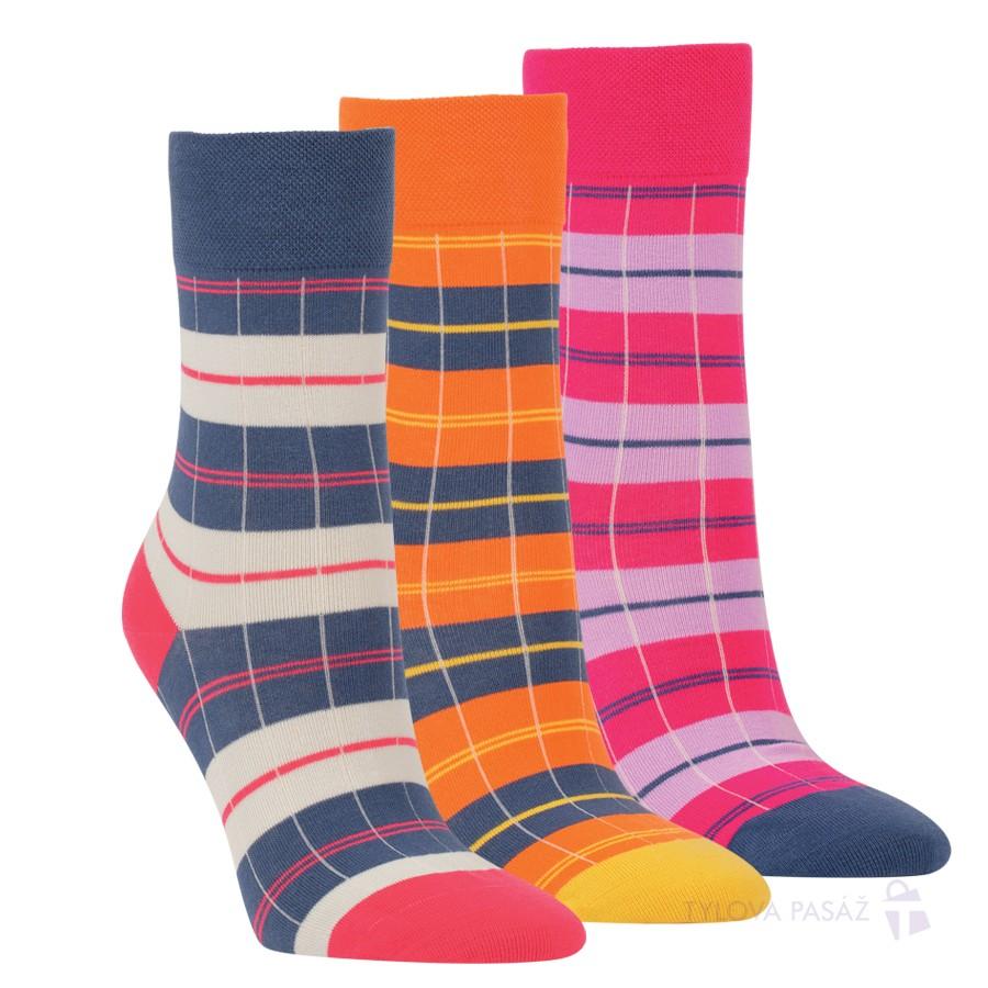 Dámské bavlněné módní zdravotní ponožky RS