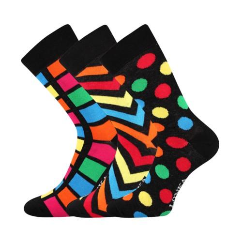 WOODOO barevné ponožky Lonka - BLACK