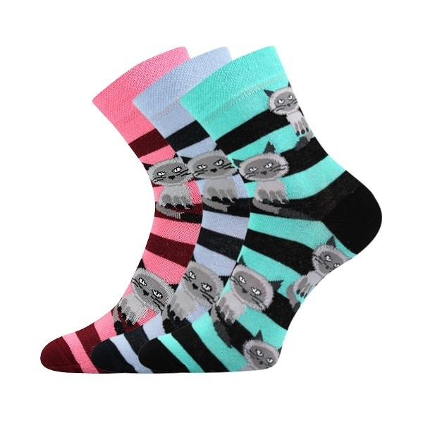 3c553787c99 XANTIPA dámské barevné ponožky - KOČIČKY mix 47 - Ponožkožrout.cz ...