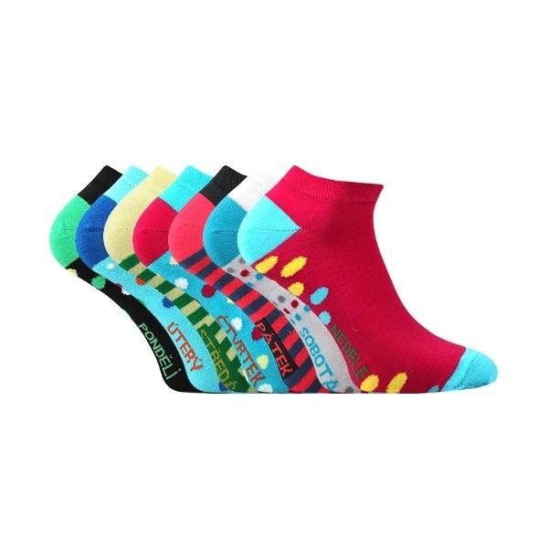 PIKI WEEK nízké barevné ponožky Boma - Ponožkožrout.cz - ponožky ... 9b34acddbe