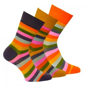 f4a59c64dae OXSOX módní dámské barevné pruhované ponožky RS - Ponožkožrout.cz ...
