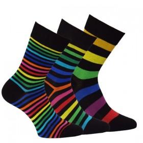 d78461ef1dd OXSOX Módní dámské barevné pruhované ponožky RS - Ponožkožrout.cz ...