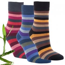 Dámské zdravotní pruhované bambusové ponožky RS - Ponožkožrout.cz ... ee74441a12